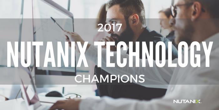 2017 Nutanix Technology Champions